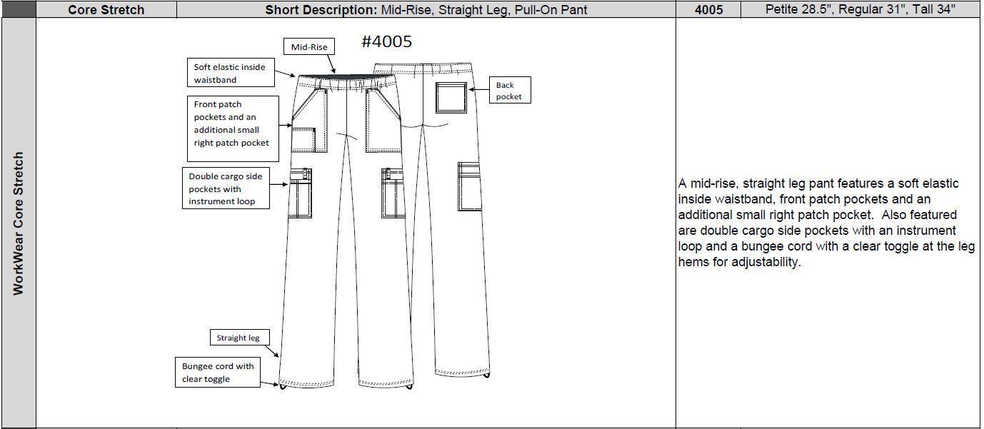 Damenhose mit Gummizug - Core-Stretch