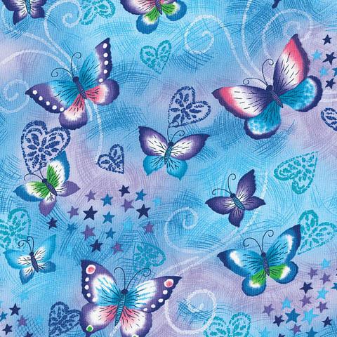 Cherokee Damenkasack mit Schmetterlingen