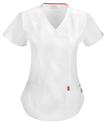 Code Happy Mock Wrap Top Antimicrobial w/ Fluid Barrier