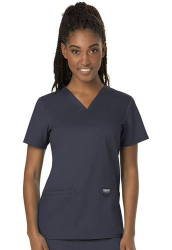 Cherokee Workwear Revolution Women's V-Neck Top with Spandex